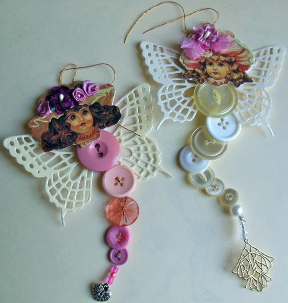 Button Fairies: Victorian Style 3 by parknslide - Cards and Paper Crafts at Splitcoaststampers
