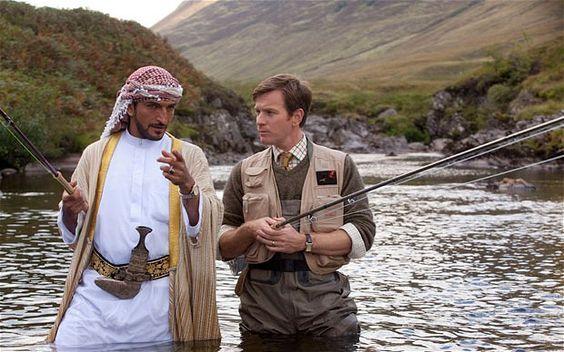 Ewan McGregor (Fred Jones) & Amr Waked (Sheikh) in 'Salmon Fishing in the Yemen'