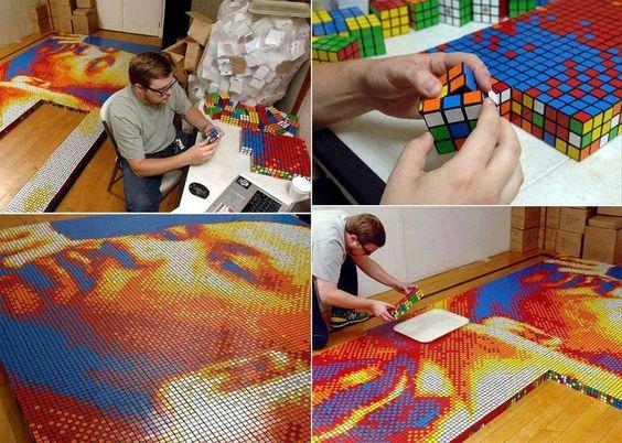 Arte surpreendente...  Realidade existente