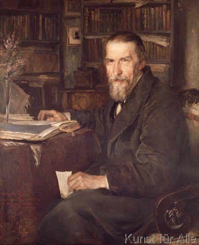 Wilhelm Raabe, Bildnis von Hans Fechner