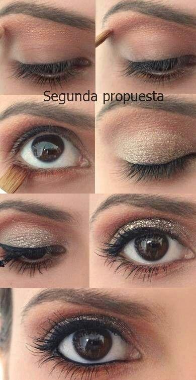 maquillaje ojos caf