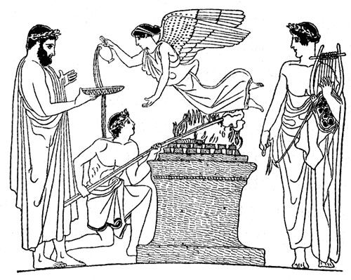 ritualistic sacrifice in ancient greek mythology The different gods of ancient greek polytheism and how they are worshipped   the sacrifice played an important role in greek religious devotion,  the  performance of the necessary rituals of the household divinities by the.