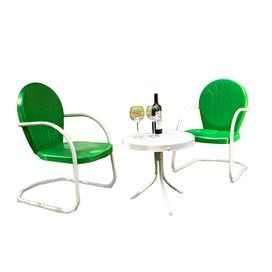3 Piece Griffith Bistro Set in Grasshopper Green