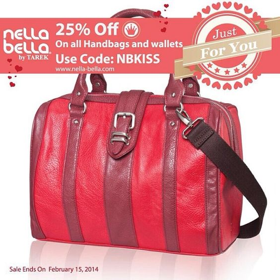 """NB """"Just For You"""" online Sale 25% Off all regular & sale priced merchandise. www.nella-bella.com Use Code:NBKISS #NellaBellaBrand #Canada #Handbags #Fashion #Vegan #Style #New #Bags #Totes #Satchel #Clutch #Messenger #Chic #Trend #Design #Instyle #StreetStyle #Love #Everyday #online #ootd #designer #style #share #sale"""