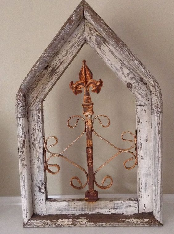 Antique Architectural Wood And Iron Decorative Salvage