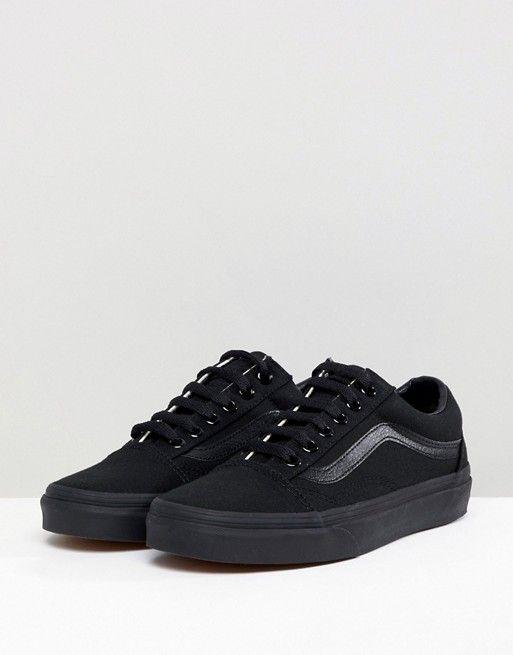 Vans Vans Classic Old Skool Sneakers In All Black All Black