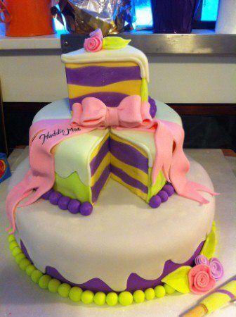 Wacky colored cake