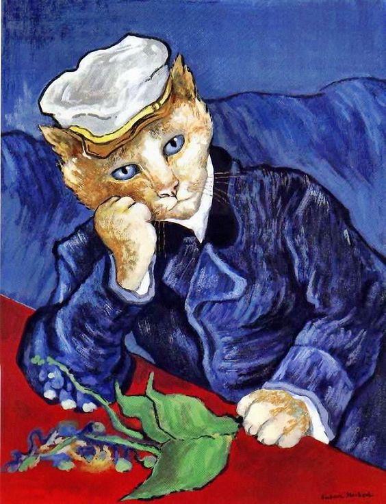 Portrait of Doctor Paul Gachet (Vincent Van Gogh) by Susan Herbert