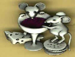 So adorable!! Mice with Wine and Cheese Pin