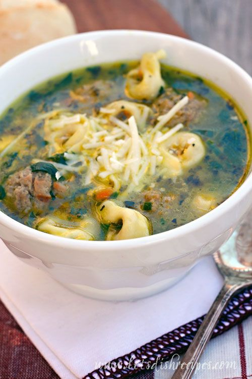Italian Wedding Soup With Three Cheese Tortellini Recipe Easy And Delish