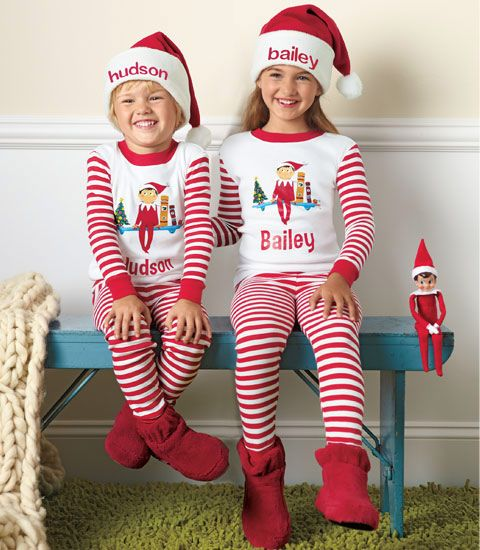 personalized the elf on the shelf pajamas chasing. Black Bedroom Furniture Sets. Home Design Ideas