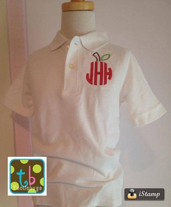 First day of school back to and back to school on pinterest for Custom polo shirts embroidered