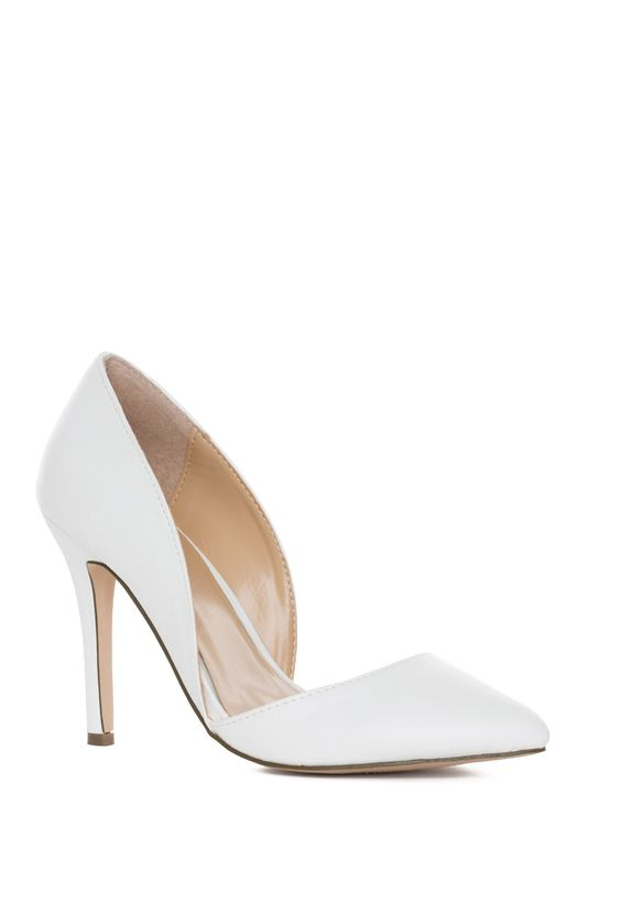 Time After Time Heels in White