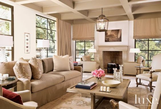Good layout for our Family Room - Contemporary Neutral Living Room   LuxeSource