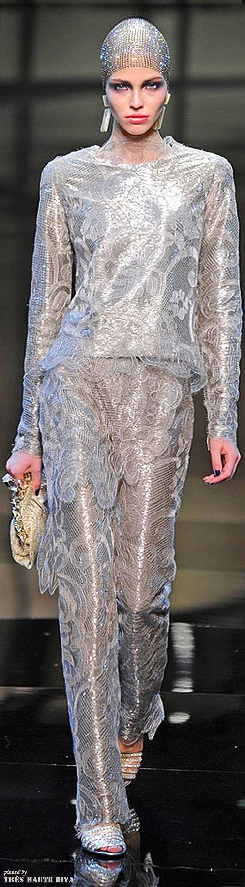 Giorgio Armani Privé Couture Spring 2014 | The House of Beccaria~