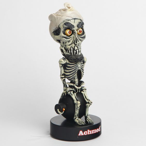 Official Jeff Dunham Achmed Talking Bobble Head