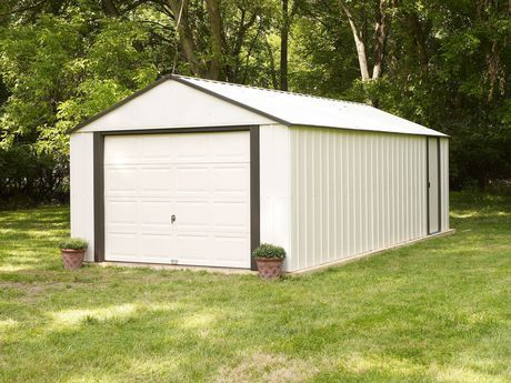 Arrow Murryhill Coffee Almond Steel Storage Shed Almond Steel Storage Sheds Building A Shed