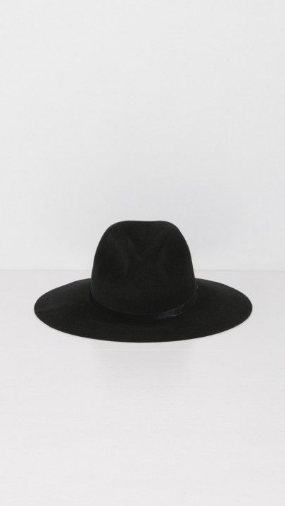 Rag & Bone Wide Brim Fedora in Black | The Dreslyn