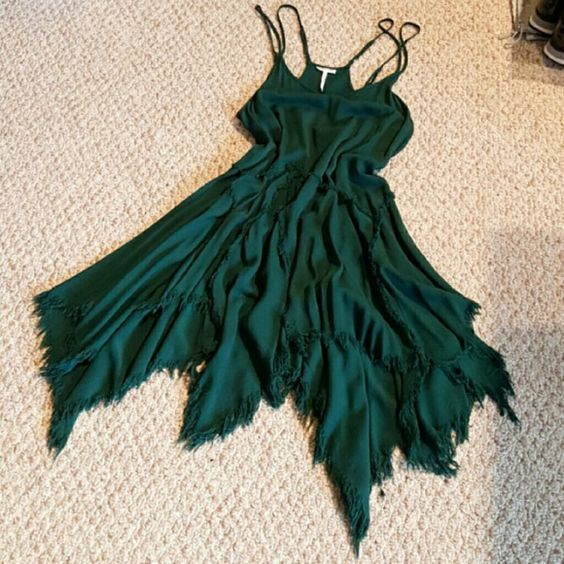 Free People forest green dress Never worn. Thinking about keeping but I'm open to offers! Merc or P Free People Dresses