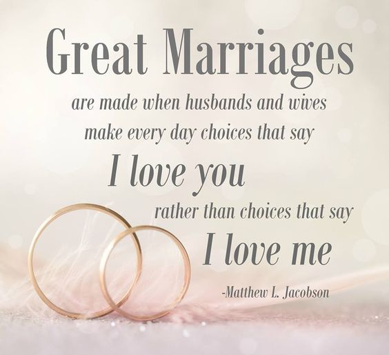 Great marriages are built on I love you