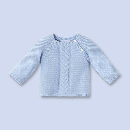 pull en tricot pour b b gar on tricot ni os children. Black Bedroom Furniture Sets. Home Design Ideas
