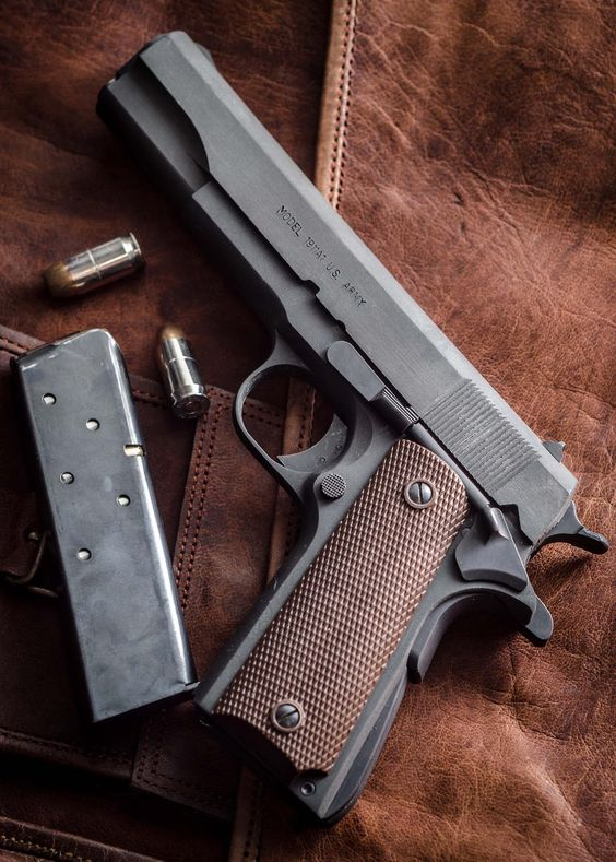 1911 Pistol - A friend owned one but after his death, it went missing. Lock up your guns to keep them from unauthorized users!!