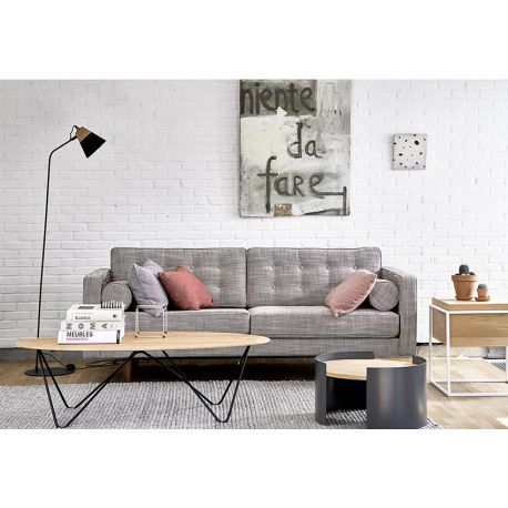 Table basse ovale orb toulouse deco and tables - Table basse ovale vintage ...