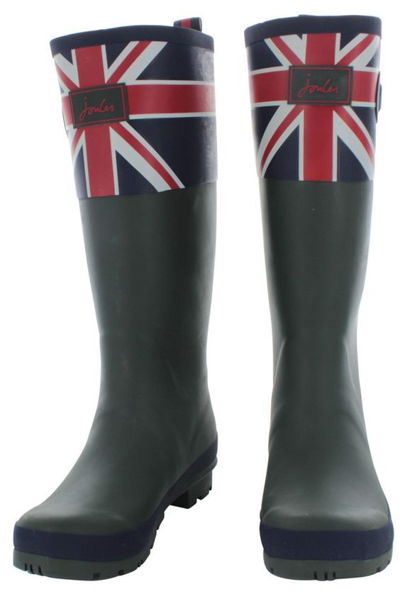 Joules Britannia Women's Rubber Rain Boots British Flag | Wife ...