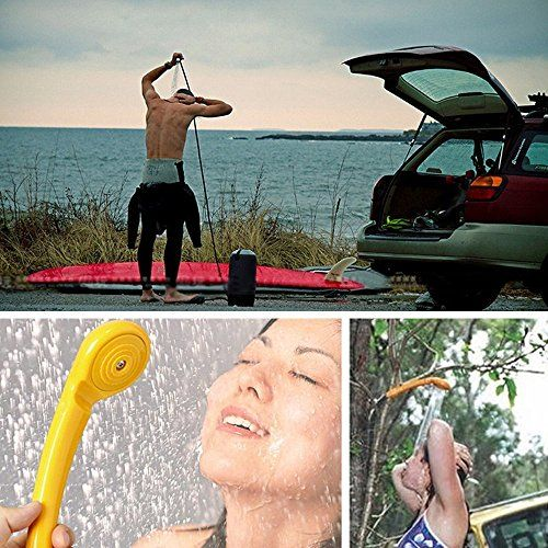 Xcellent Global Kit de Douchette Portable et Pompe à eau 12V Pour Auto Moto Pet Chien Camping Pêche AT012