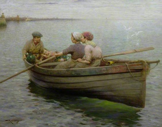 """""""Rowing the Boat"""", Robert McGregor (Scottish painter), 1848 - 1922"""