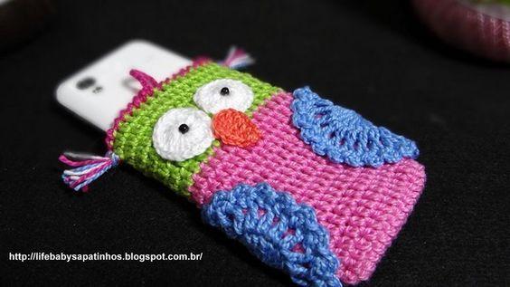 Pochette portable hibou au crochet , en Vidéo ! - Crochet Passion