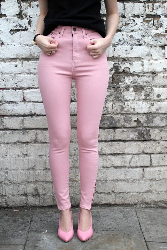 Baby Pink Jeans | Style | Pinterest | Colors The o&39jays and High