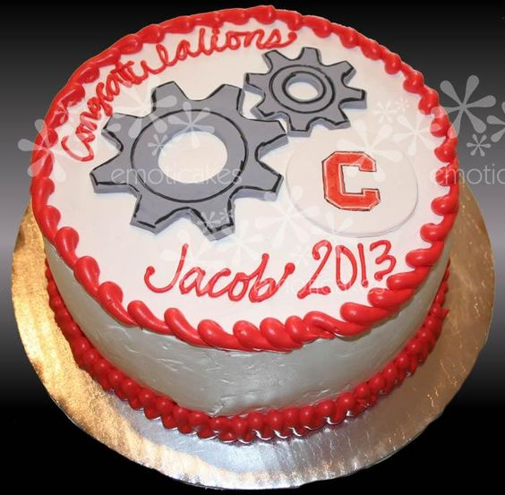 Round Graduation Cake Images : Mechanical engineering, Cakes and Graduation on Pinterest