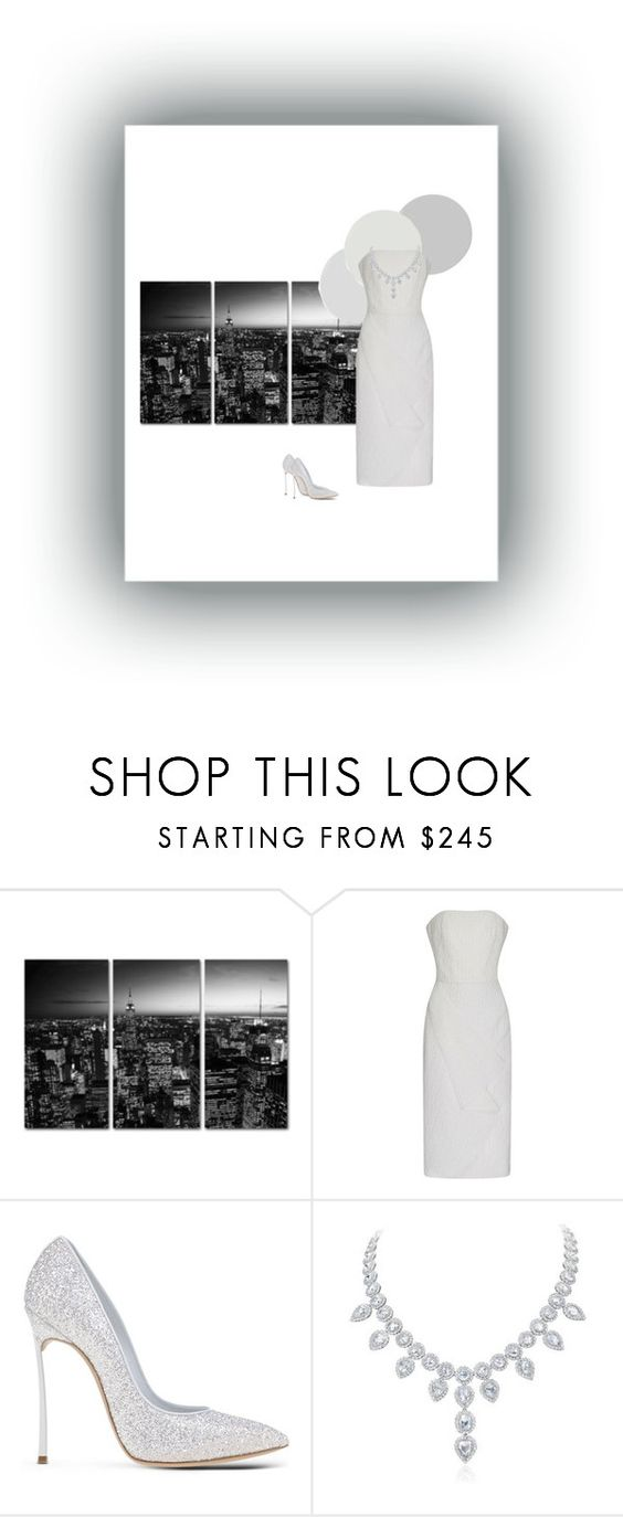 """""""Untitled #92"""" by gaia-giovanzana ❤ liked on Polyvore featuring Roland Mouret and Casadei"""