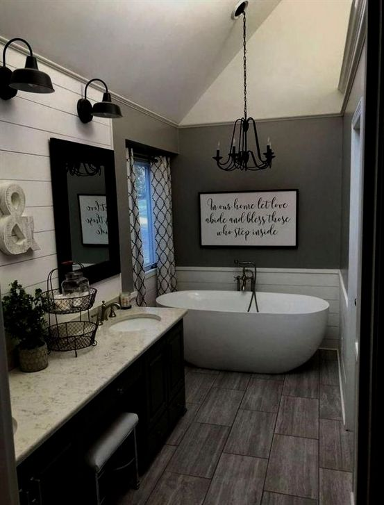 Bathroom Ideas High Ceilings Bathroom Decor Cheap Bathroomideasmaster Bathroomremode Bathroom Farmhouse Style Country Style Bathrooms Bathroom Remodel Master