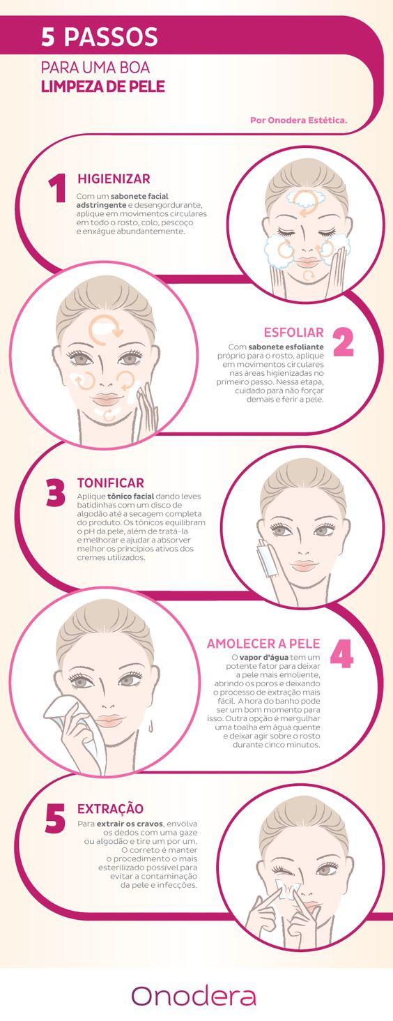 5 passos para fazer uma boa limpeza de pele em casa: