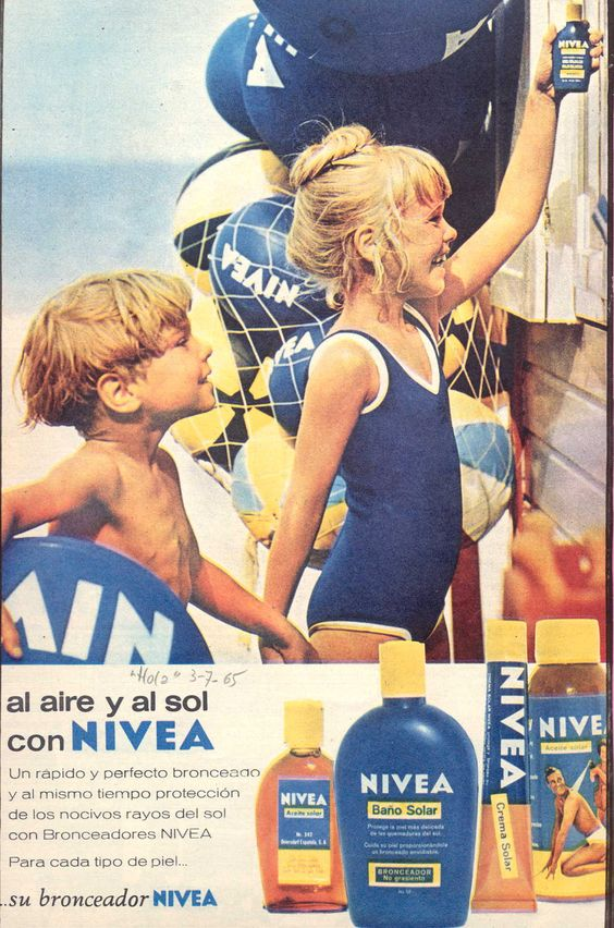 Productos Solares NIVEA #años60 #nivea #retro: