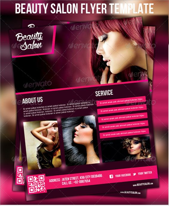 BeautySalonDiscountFlyerTemplatePsdJpg   Marketing