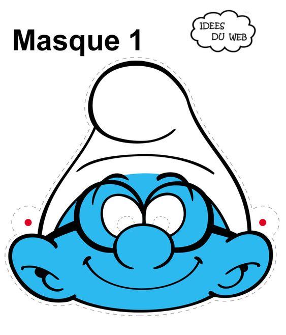 Réaliser un masque de schtroumpf! (Kids birthday Schtroumpf)