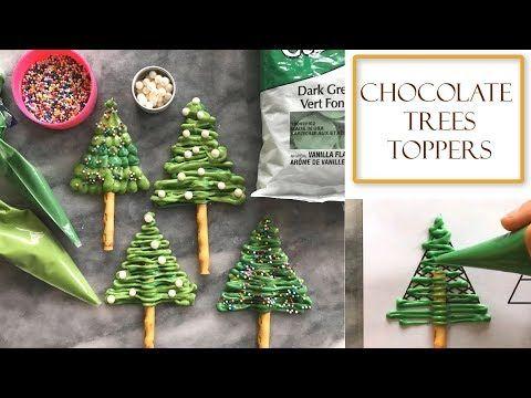 How To Make Chocolate Christmas Tree Decorations Simple Easy Youtube Christmas Chocolate Edible Christmas Gifts Christmas Tree Chocolates