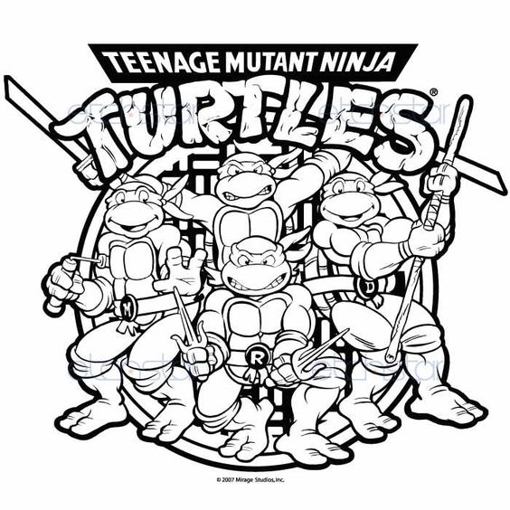 Pix for teenage mutant ninja turtles drawings drawing for Teenage mutant ninja coloring pages