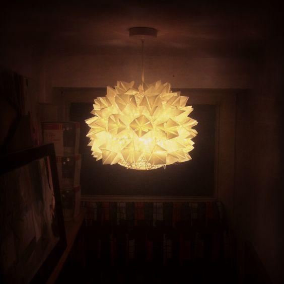 Prototype 1! DIY origami lampshade