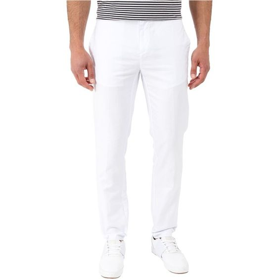 Calvin Klein Cotton Linen Dobby Pants (White) Men's Casual Pants ($50) ❤ liked on Polyvore featuring men's fashion, men's clothing, men's pants, men's casual pants, white, mens cotton linen pants, mens white pants, calvin klein mens pants, mens pants and mens zipper pants