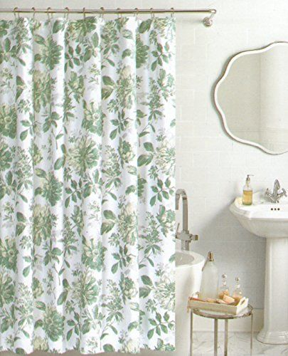 Nicole Miller Botanical Nature Fabric Shower Curtain Cotton Bland ...