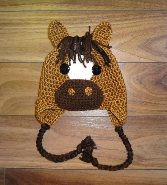 Free Crochet Pattern For Horse Hat : Horse Hat Crochet PATTERN, PDF, 6 Sizes, Instant Download ...