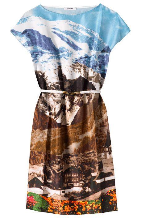 Printed silk dress, Carven