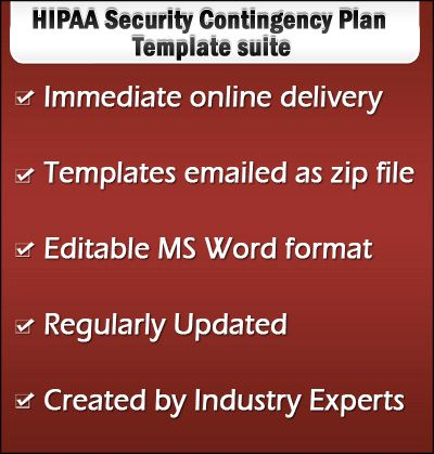 HIPAA contingency plan templates can be used as disaster recovery - business contingency plan template