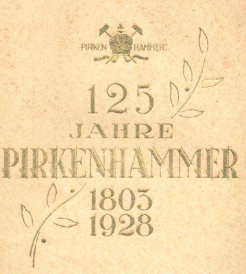 Zum jubileum der porzellanfabrik Pirkenhammer 1928 Titelblatt