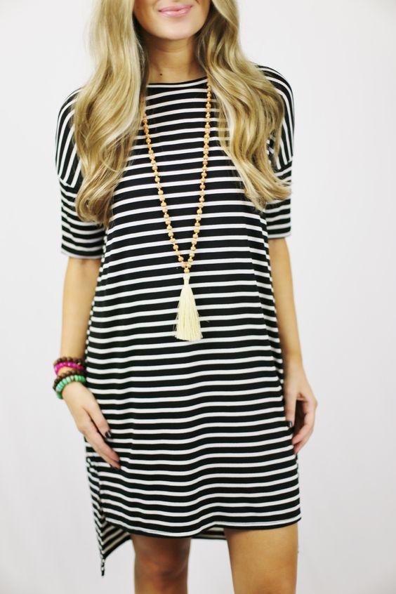 Cali Striped Shirt Dress