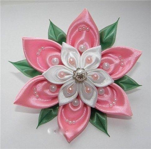 (99) Одноклассники - Цветок в технике канзаши. МК лепесточка